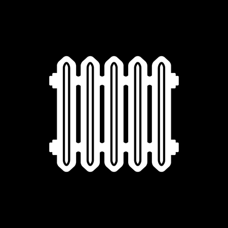 Radiator icon. Heater and heating, heat symbol. Flat design. Stock - Vector illustration 일러스트