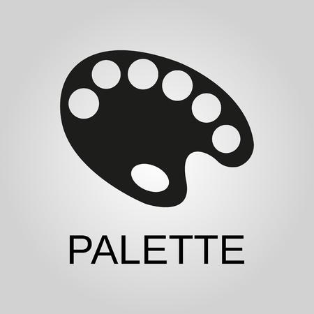 Palette icon. Palette symbol. Flat design. Stock - Vector illustration 일러스트