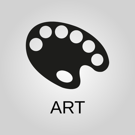 Art icon. Art symbol. Flat design. Stock - Vector illustration