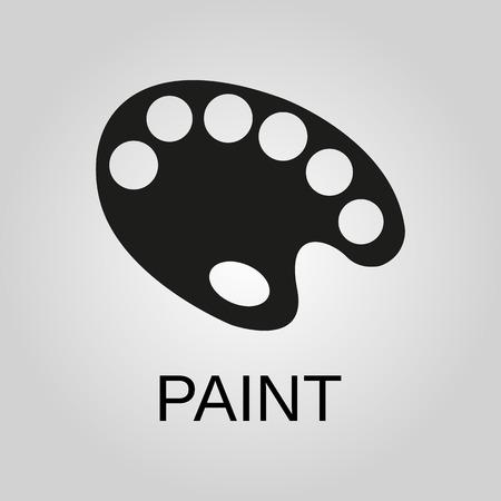 Paint icon. Paint symbol. Flat design. Stock - Vector illustration 일러스트
