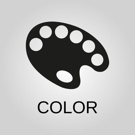 Color icon. Color symbol. Flat design. Stock - Vector illustration 일러스트