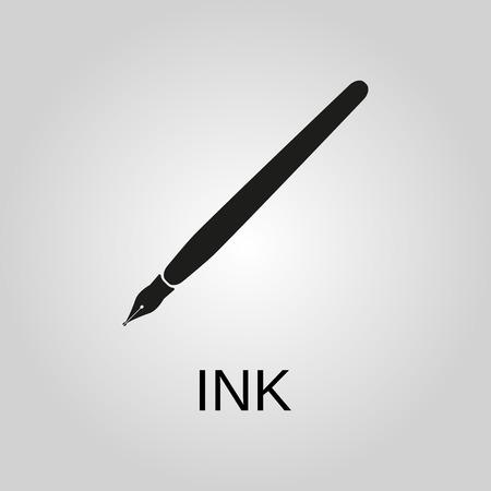 Ink icon. Ink symbol. Flat design. Stock - Vector illustration