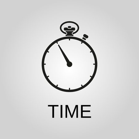 Time icon. Time symbol. Flat design. Stock - Vector illustration