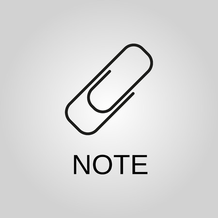 Note icon. Note symbol. Flat design. Stock - Vector illustration