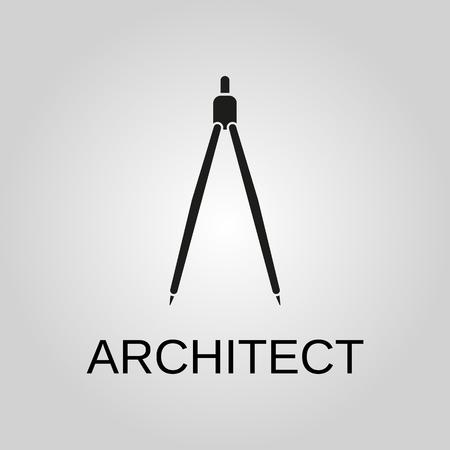 Architect icon. Architect symbol. Flat design. Stock - Vector illustration