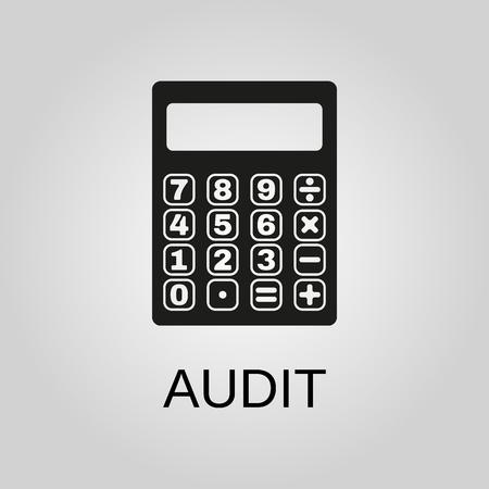 Audit icon. Audit symbol. Flat design. Stock - Vector illustration 일러스트