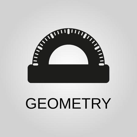Geometry icon. Geometry symbol. Flat design. Stock - Vector illustration Illustration