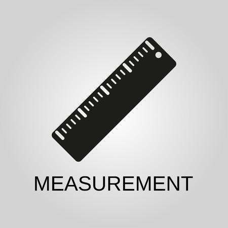 Measurement icon. Measurement symbol. Flat design. Stock - Vector illustration
