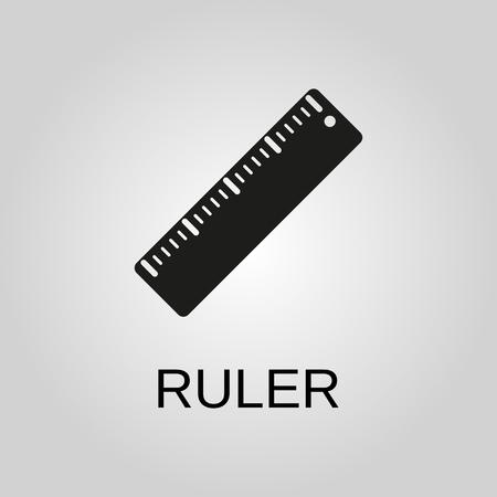 Ruler icon. Ruler symbol. Flat design. Stock - Vector illustration