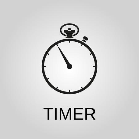 Timer icon. Timer symbol. Flat design. Stock - Vector illustration