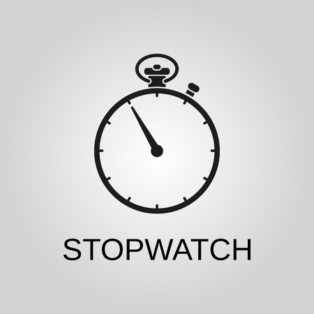 Stopwatch icon. Stopwatch symbol. Flat design. Stock - Vector illustration