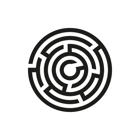 Labyrinth icon. Maze and intricacy, confuse symbol. Flat design. Stock - Vector illustration 向量圖像