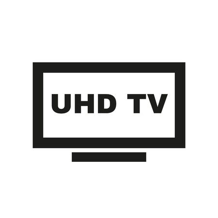 UHD TV icon. Television and display, televisor symbol. Flat design. Stock - Vector illustration