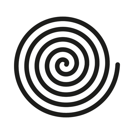 Spiral icon. Helix and scroll, gyre, curl symbol. Flat design. Stock - Vector illustration