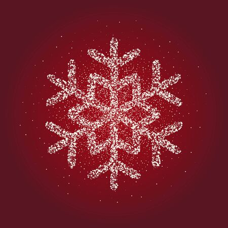 Snowflake icon. Christmas and new year, xmas, winter symbol. Stock - vector 일러스트