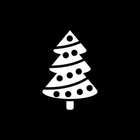 Christmas tree icon. New year and xmas, christmas, winter symbol. Flat design. Stock - Vector illustration
