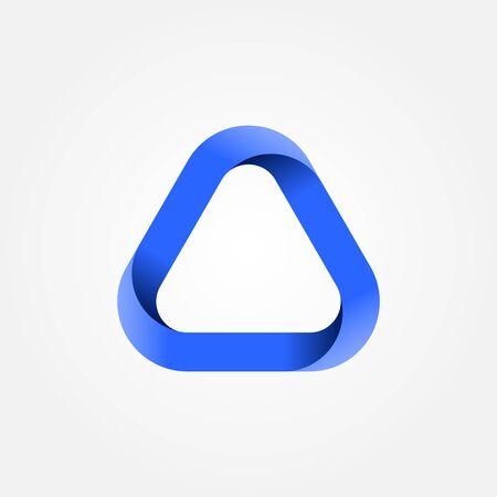 Triangle logo. Design geometric element. Corporate, technology, media style templates vector design. Stock - Vector illustration