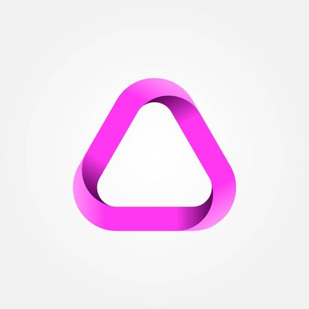 Triangle . Design geometric element. Corporate, technology, media style templates vector design. Stock - Vector illustration Vectores