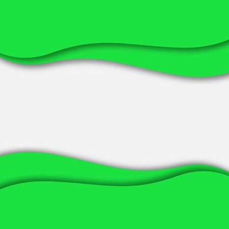 Abstract green background. Paper cut style with shadow. Space for text. Stock - Vector illustration 向量圖像