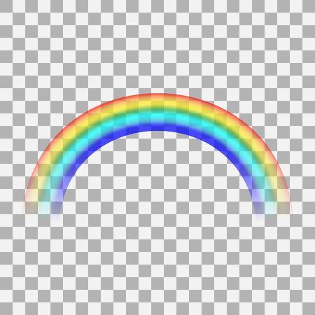 Rainbow icon isolated on transparent background. Realistic raibow 3d. Mockup. . Stock - Vector illustration
