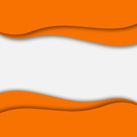 Abstract orange background. Paper cut style with shadow. Space for text. Stock - Vector illustration 向量圖像