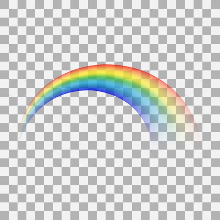 Rainbow icon isolated on transparent background. Perspective diagonal view. Realistic 3d. Mockup. Stock - Vector illustration 版權商用圖片