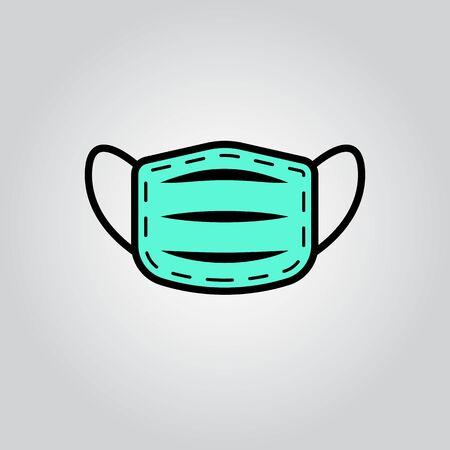 Dentist and medical mask . Infection protection symbol. Flat design. Stock - Vector illustration 向量圖像