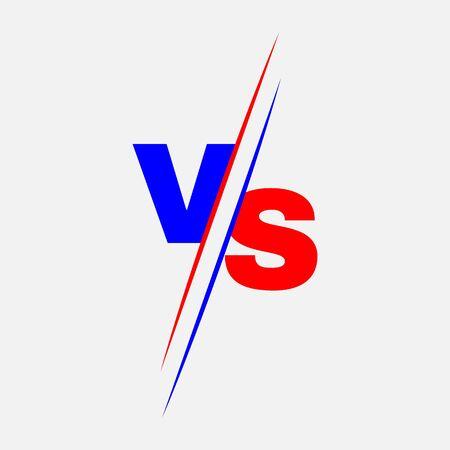 VS letters for sport, game, fight, battle, match. Versus Stock - Vector illustration