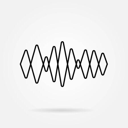 Sound waves icon. Equalizer symbol. Flat design. Stock - Vector illustration