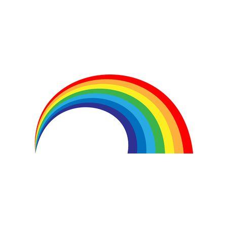 Rainbow icon. Spectrum symbol. Perspective diagonal view. Stock - Vector illustration