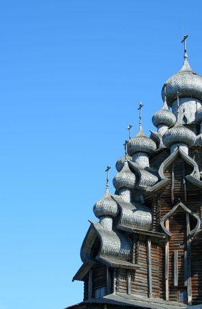 Domes of christian church, Kizhi island - northern Russia