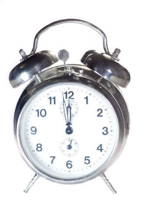 classical alarm clock on white background Standard-Bild