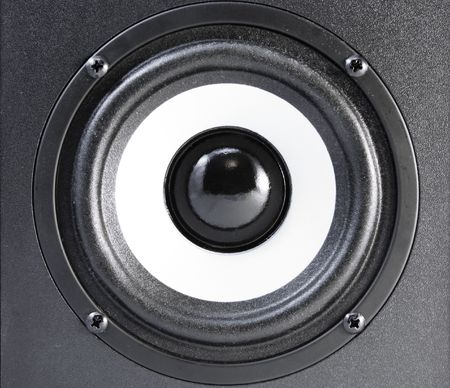 Close up view of audio speaker