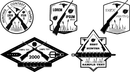 Set of hunting labels
