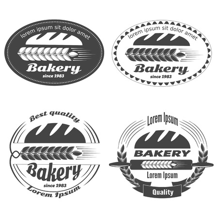 Set of bakery labels