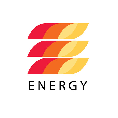 diesel: Energy power  template in fire style. Petrol, fuel, diesel, gasoline, benzine, gas, fuel tank, oil industry business card ribbon concept. Letter e print icon idea in red, yellow background Illustration