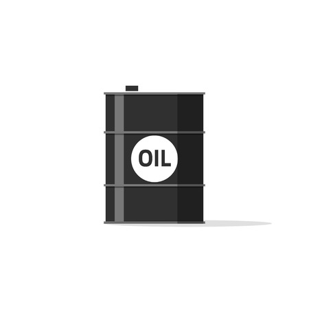 barrell: Oil barrel icon, oil tank with oil text emblem, fuel can, chemical container concept simple flat illustration design isolated on white background image