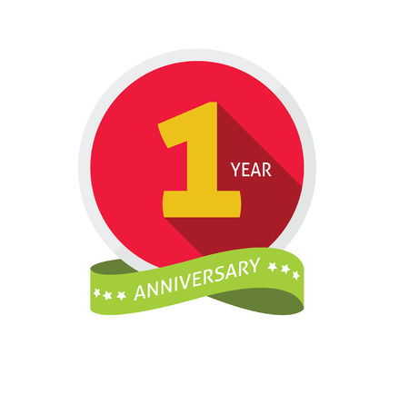 Anniversary 1 Vector Illustratie