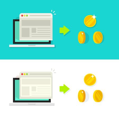conversion: Website conversion vector illustration, conversion rate income concept, optimization, advertising