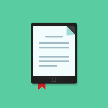 book reader: E-book vecot icon isolted, ebook, electronic book reader vector illustration Illustration