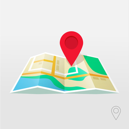 brilliance: Road map marker pointer with road map vector icon design. Pin pointer roadmap. Location pin illustration on gray background brilliance. GPS navigation systems.