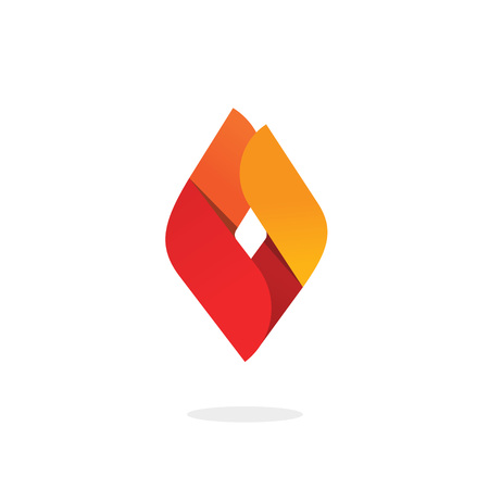 ignite: Fire flame vector, abstract ignite energy icon, blaze brand natural gas template, candle light concept isolated, blaze modern design element flat style, corporate identity ribbon Illustration
