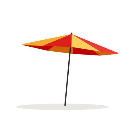Umbrella beach vector illustration isolated on white background, flat cartoon outdoor umbrella Illustration