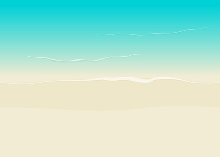 seacoast: Beach background seamless top view vector illustration, sea coast and beach sand backdrop
