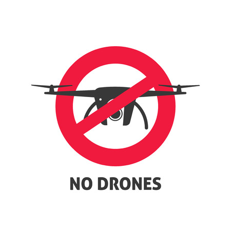 tech no: No drone sign vector illustration isolated on white background Illustration