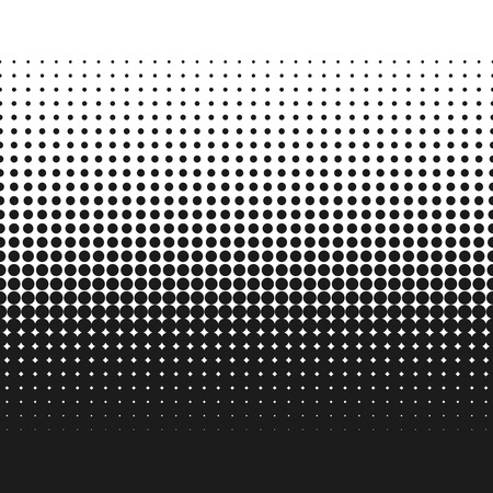 gradient: Dotted gradient vector illustration, white and black halftone background, horizontal seamless dotted lines, monochrome dots texture backdrop, retro effect