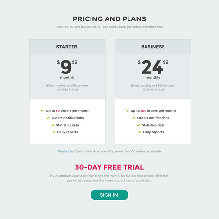 Pricing table vector illustration, pricing page design, price subscription
