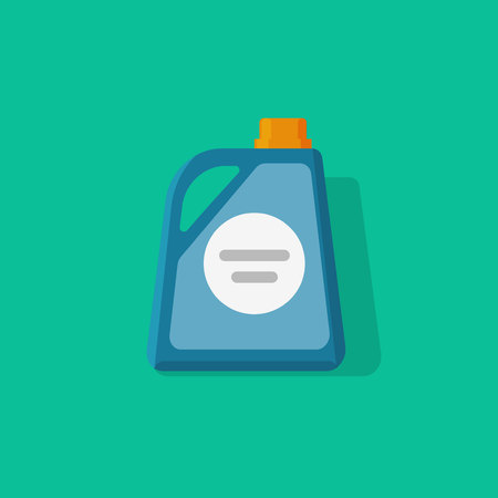 Detergent bottle vector icon, flat cartoon style chemical container illustration isolated on color background