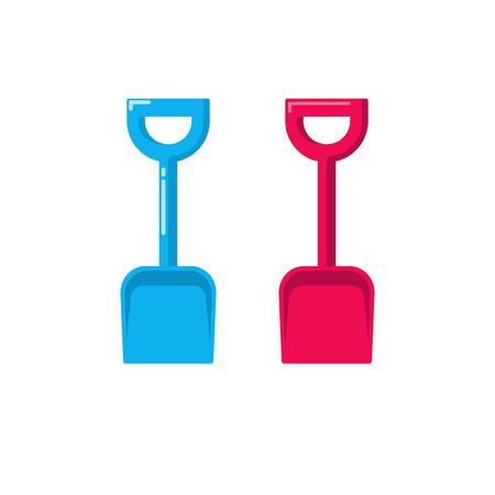 small tools: Shovel vector icon, fat cartoon small gardening spade isolated on white background Illustration
