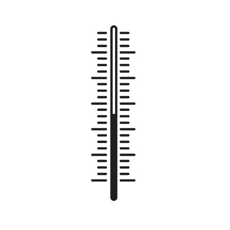 Thermometer scale vector illustration, indicator of measurement isolated on white